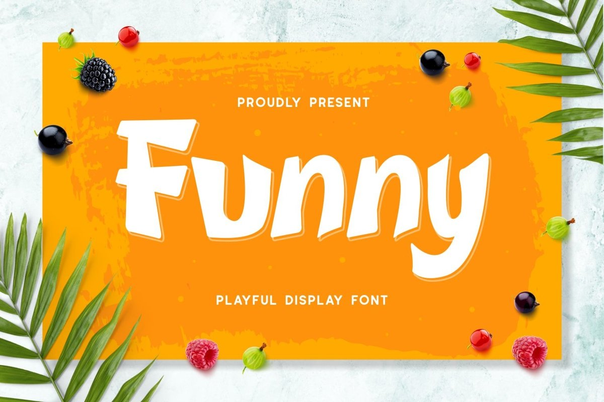 Funny - Playful Display Font example image 1