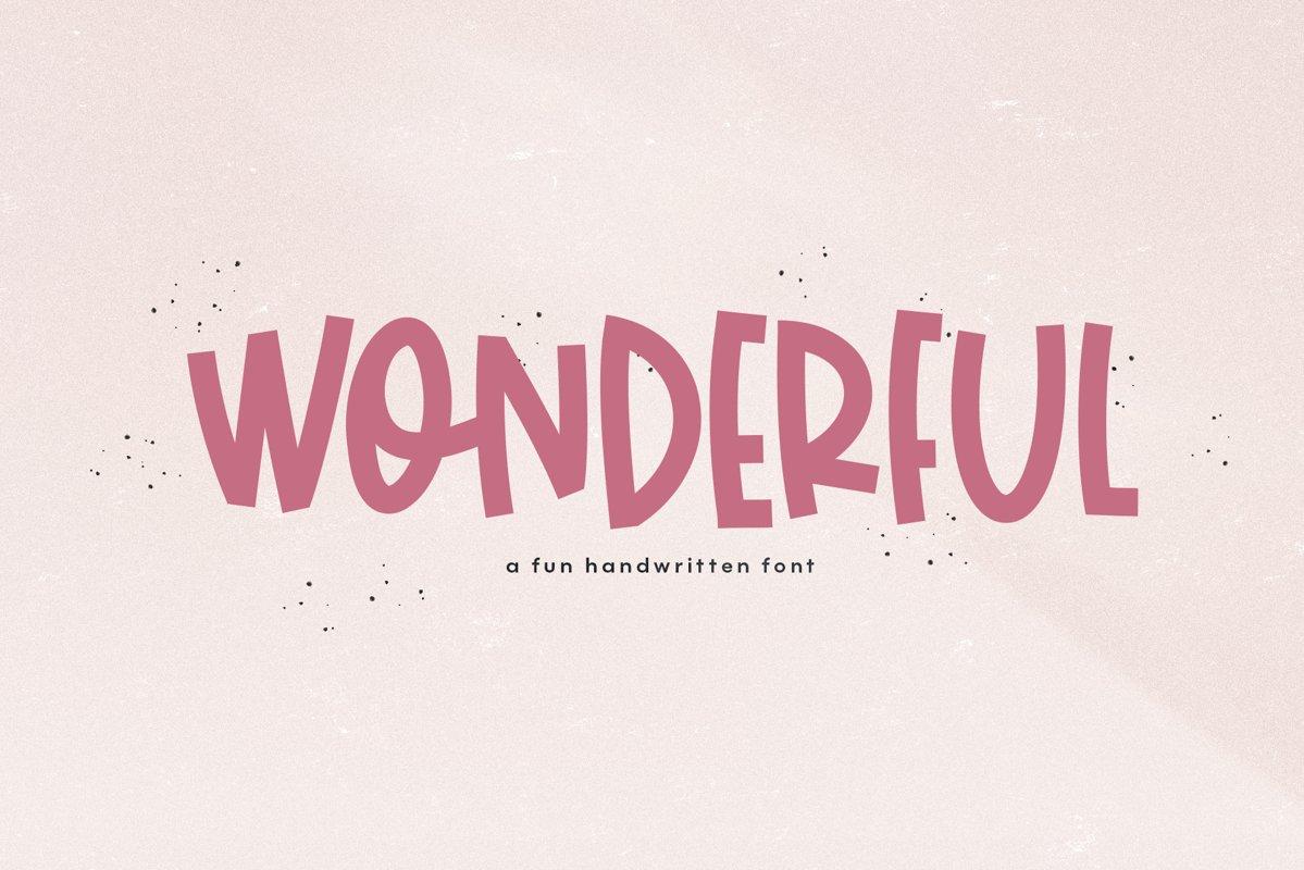 Wonderful - A Bold Handwritten Font example image 1