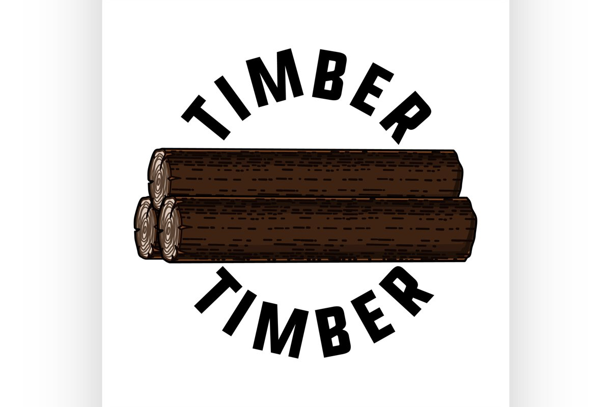 Color vintage timber emblem example image 1