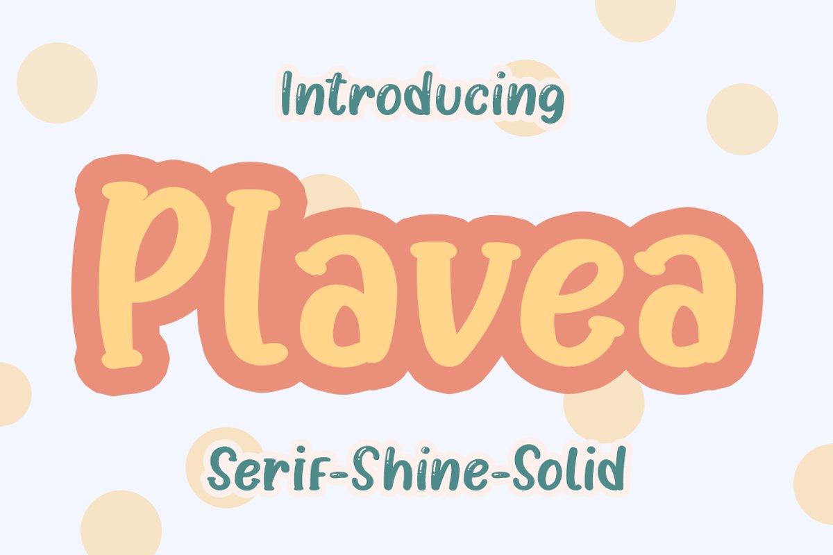 Plavea - Shine - Serif & Solid example image 1