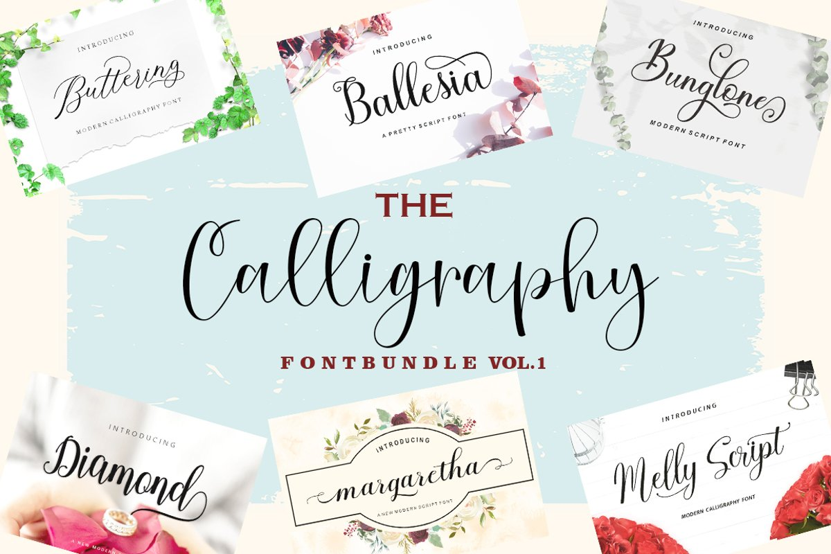 The Calligraphy Font Bundle example image 1
