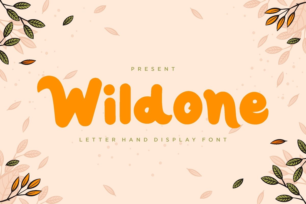 Wildone - Letter Hand Display Font example image 1