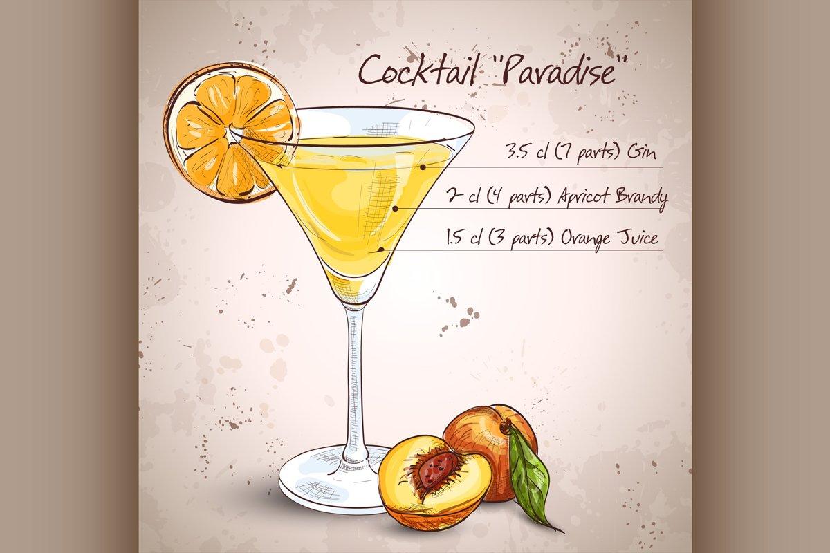 Paradise alcoholic cocktail example image 1