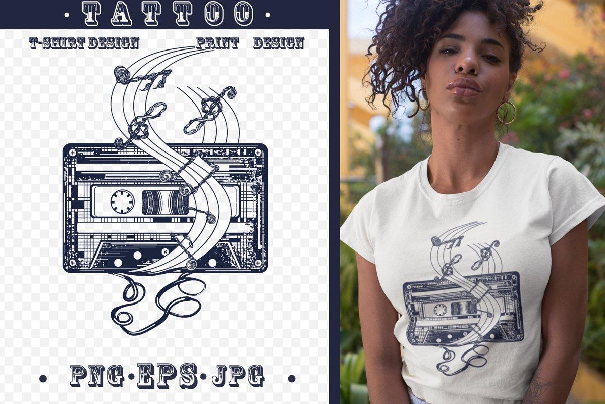 Retro music tattoo example image 1