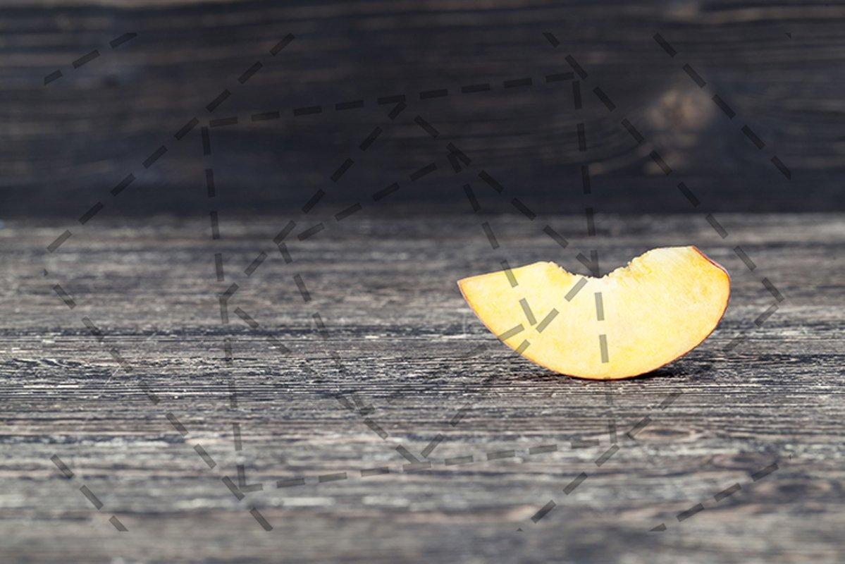 one slice peach example image 1