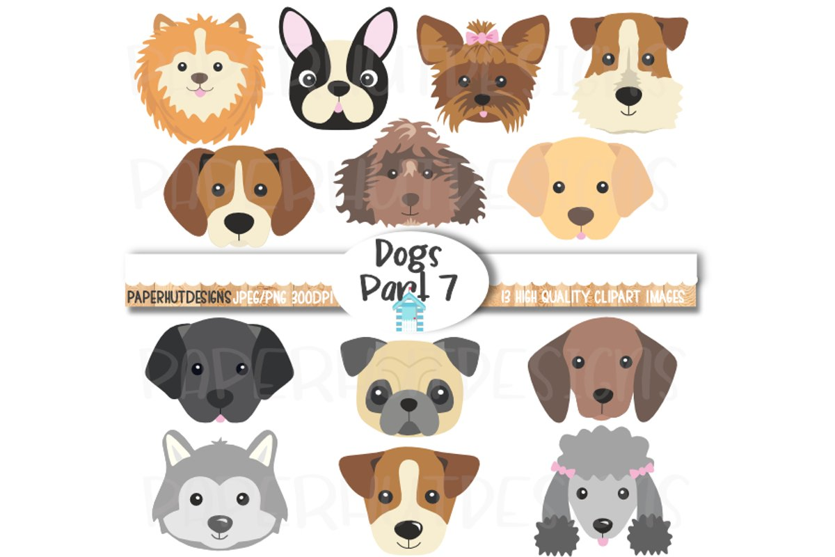 Dog Faces Clipart Dog Face Illustration Cute Puppy Faces Cli 492475 Characters Design Bundles
