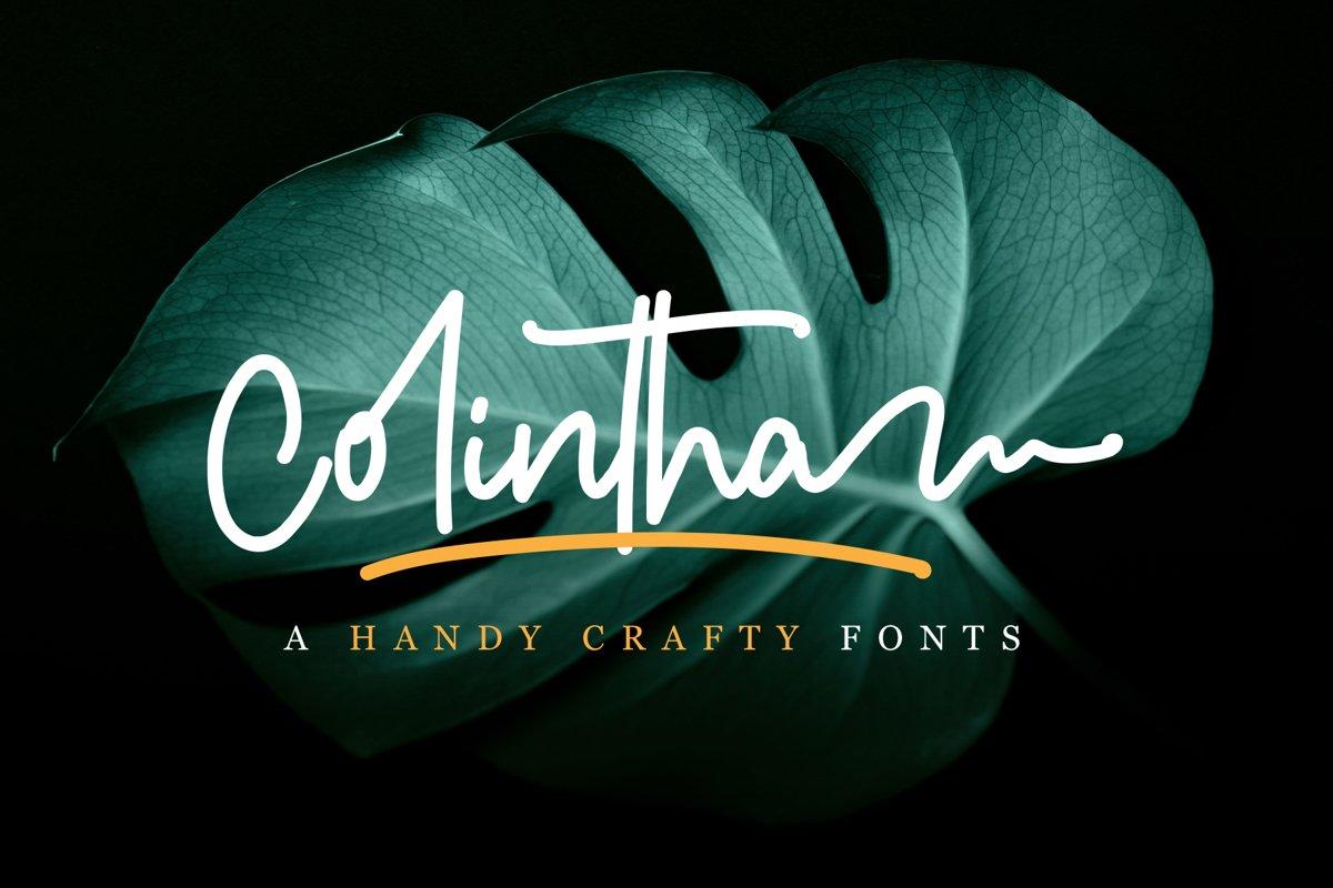 Colintha | Handy Crafty Fonts example image 1