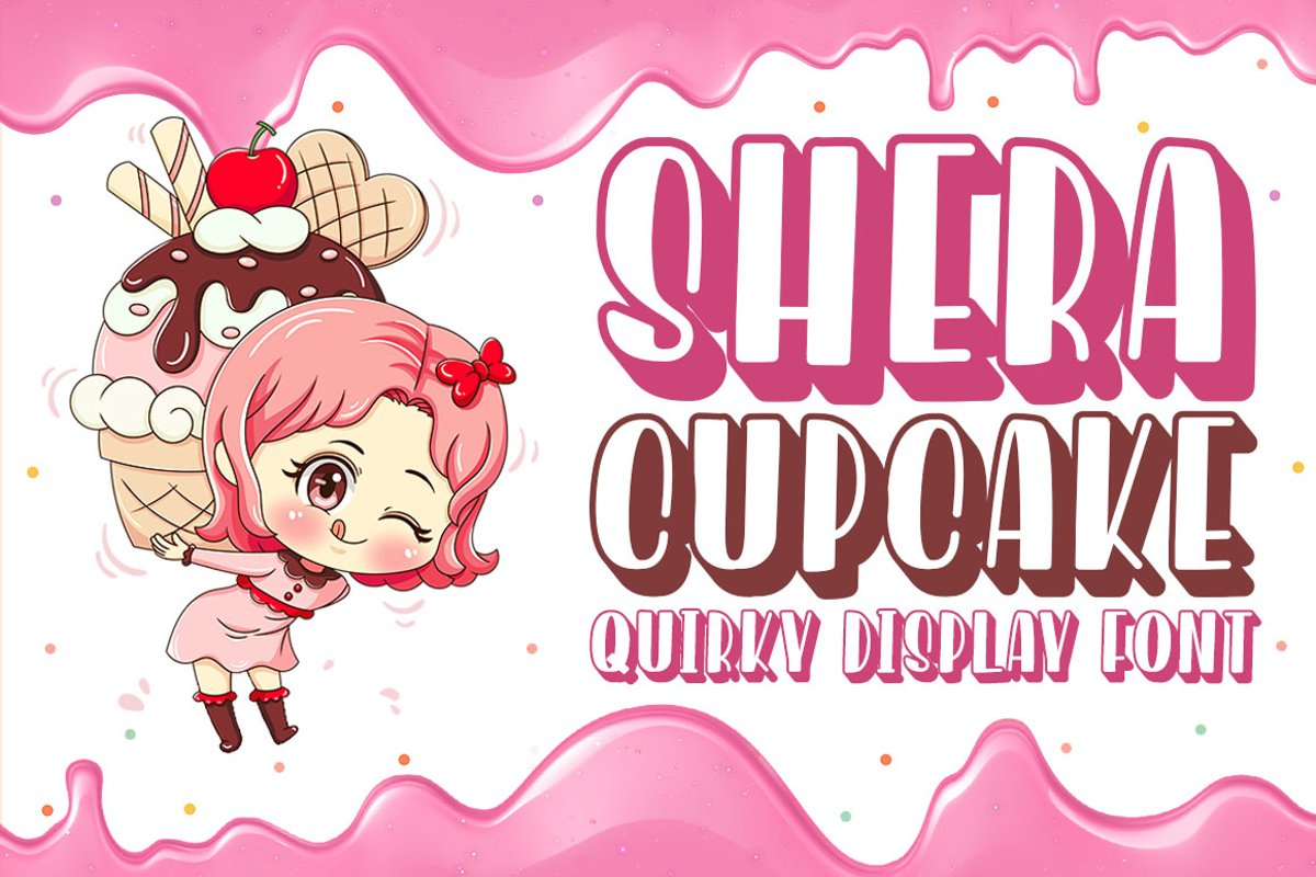 Shera Cupcake - Cute Display Font example image 1