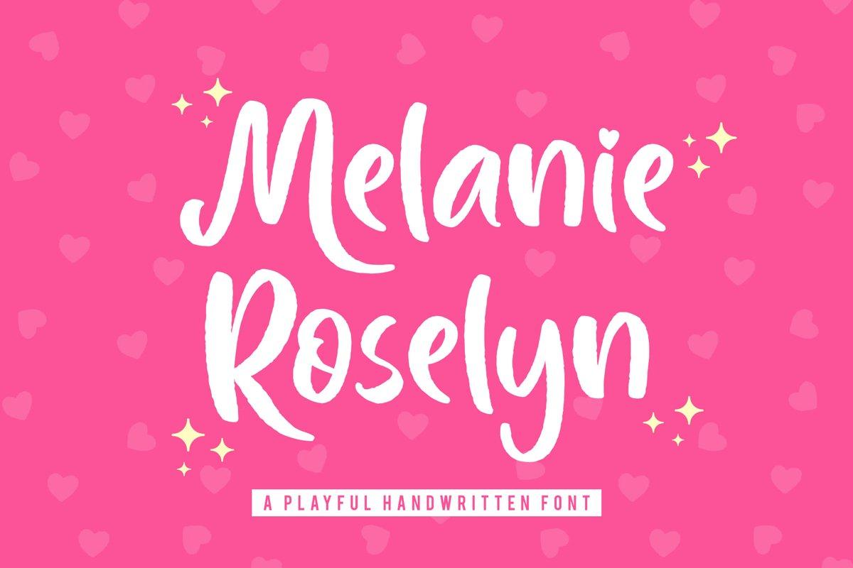Melanie Roselyn - Playful Handwritten Font example image 1