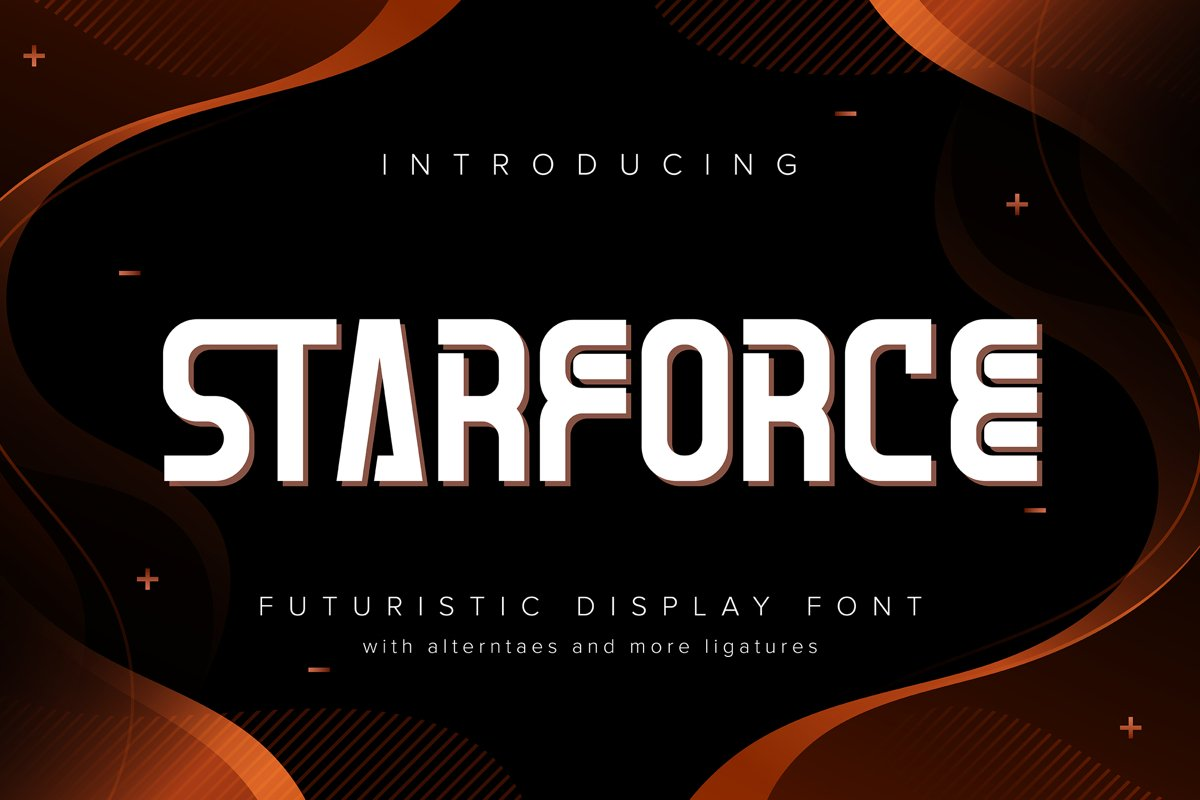 Starforce | Futuristic Display Typeface example image 1