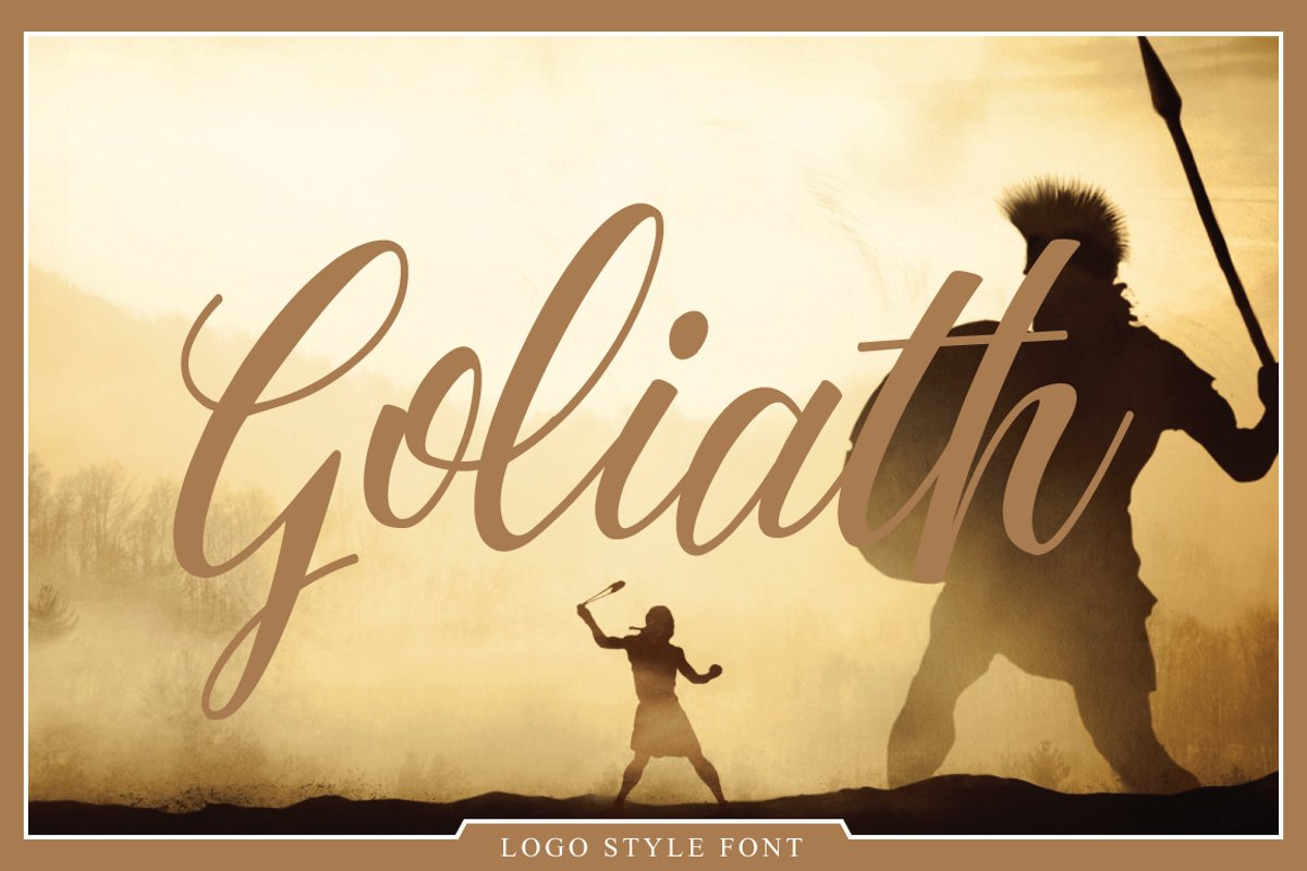 Goliath Font example image 1
