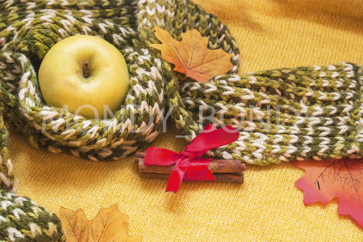 Flat lay. Autumn composition. Top view example image 1