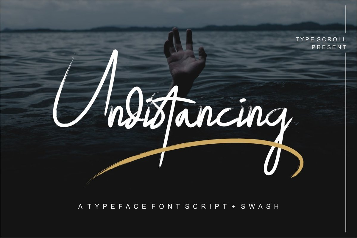 Undistancing // a Typface font Script with Swash example image 1