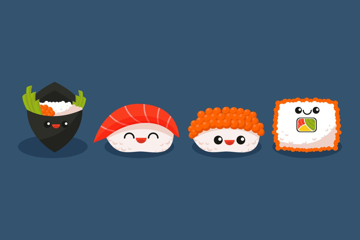 Sushi Illustrations example image 1
