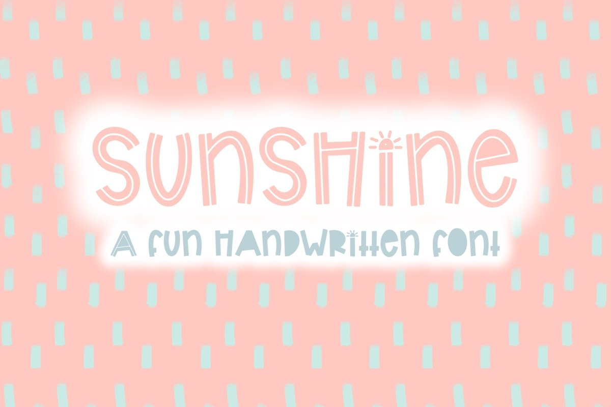 Sunshine | Bold Quirky Hand Written Font example image 1