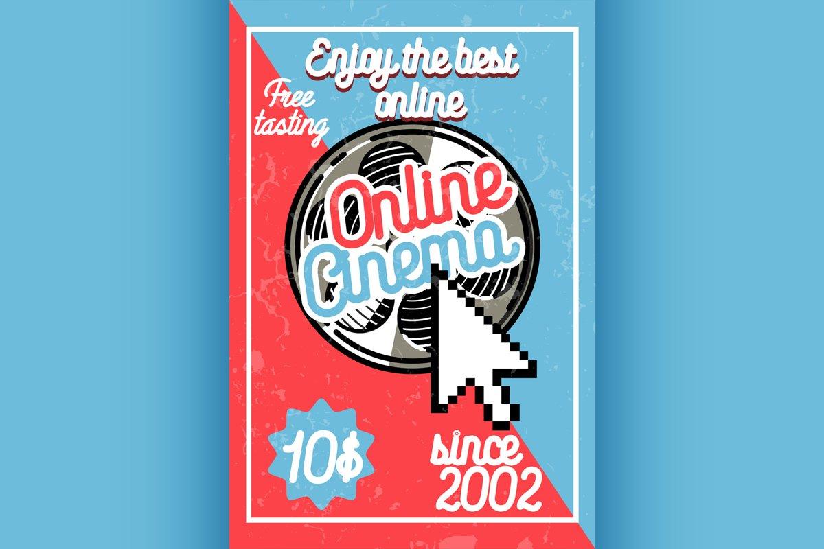 Color vintage online cinema banner example image 1