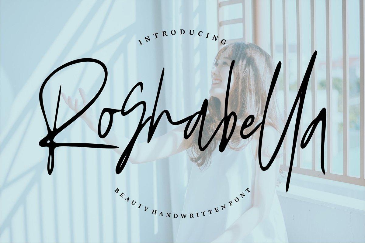 Roshbella - Beauty Handwritten Font example image 1