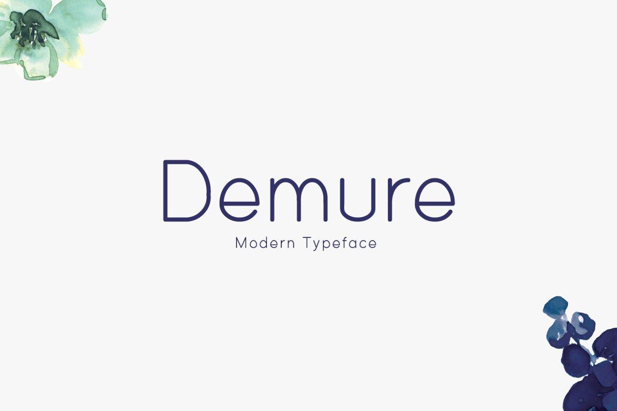 Demure example image 1