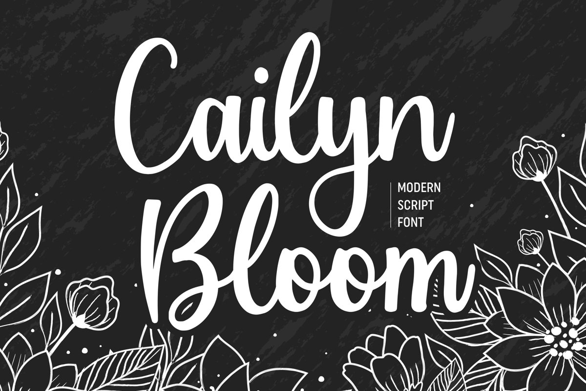 Cailyn Bloom Modern Script Font example image 1
