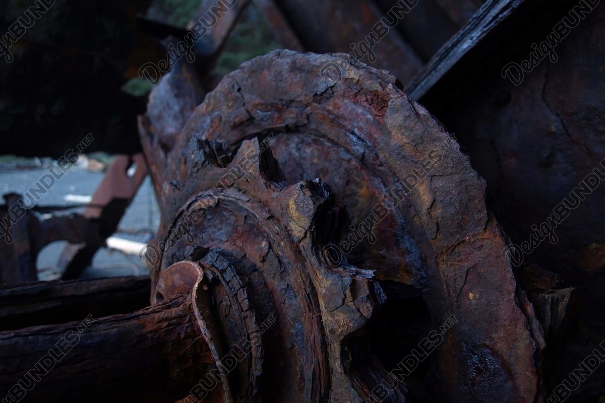 Stock Photo - Close-Up Of Rusty Wheel example image 1
