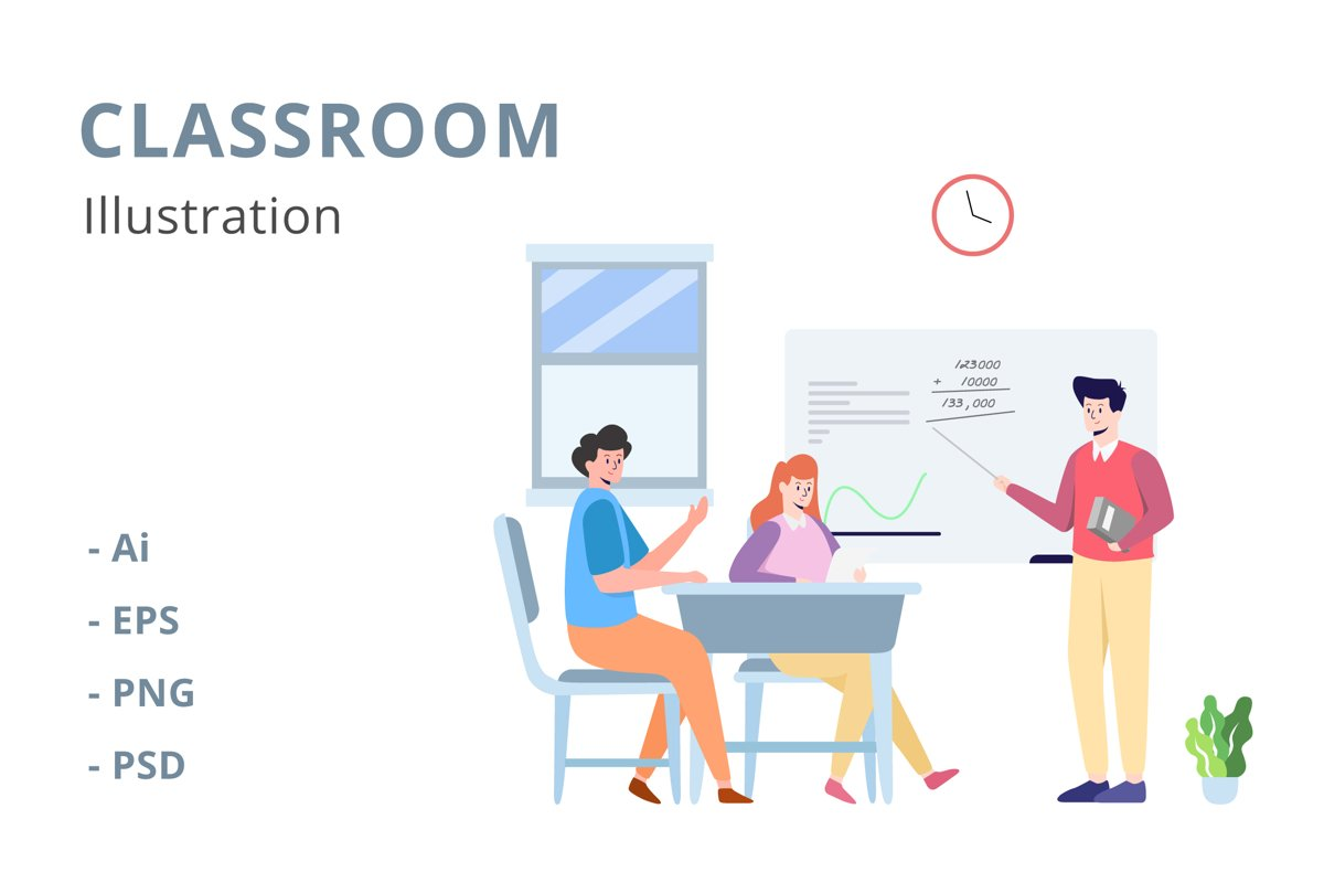Classroom Illustration example image 1