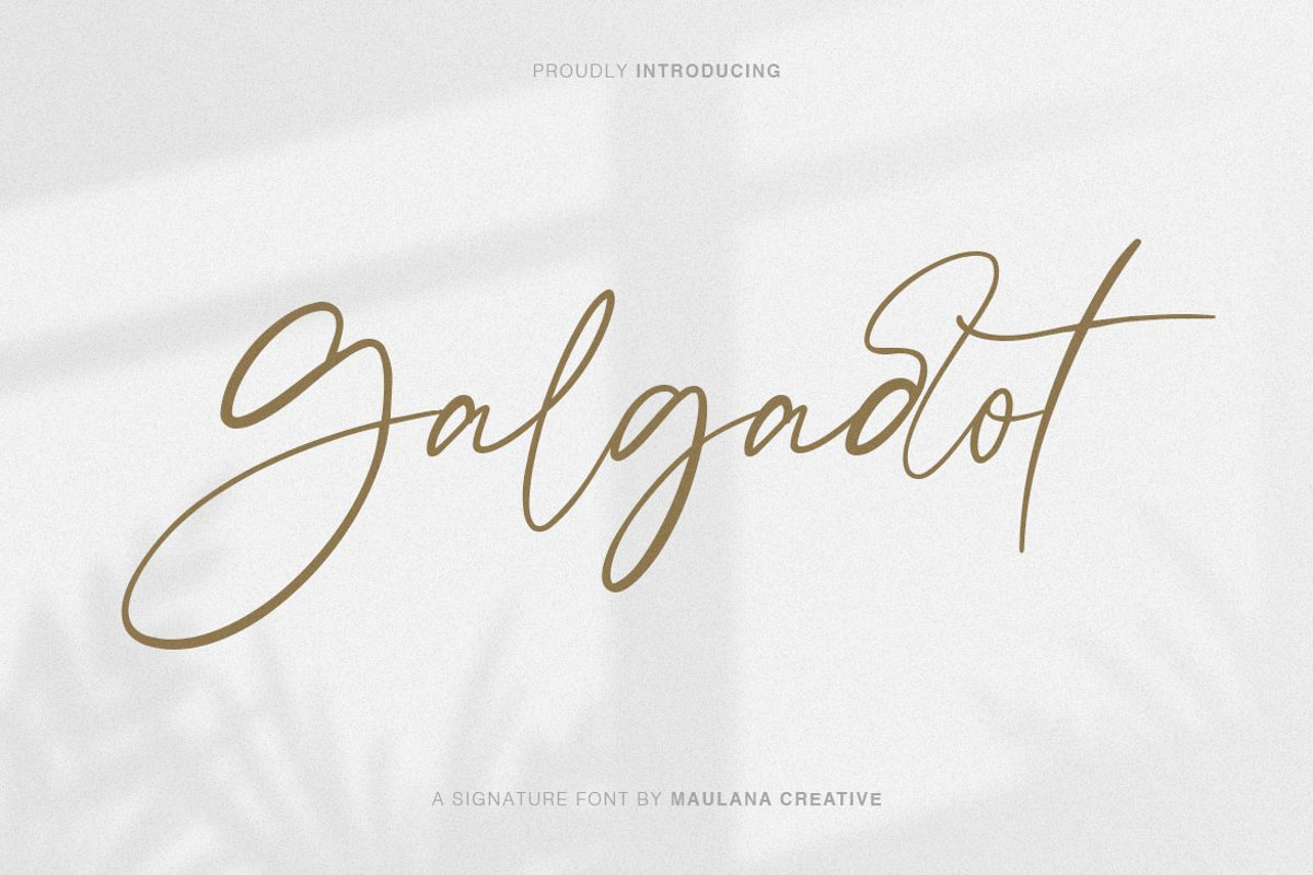 Galgadot Signature Brush Font example image 1