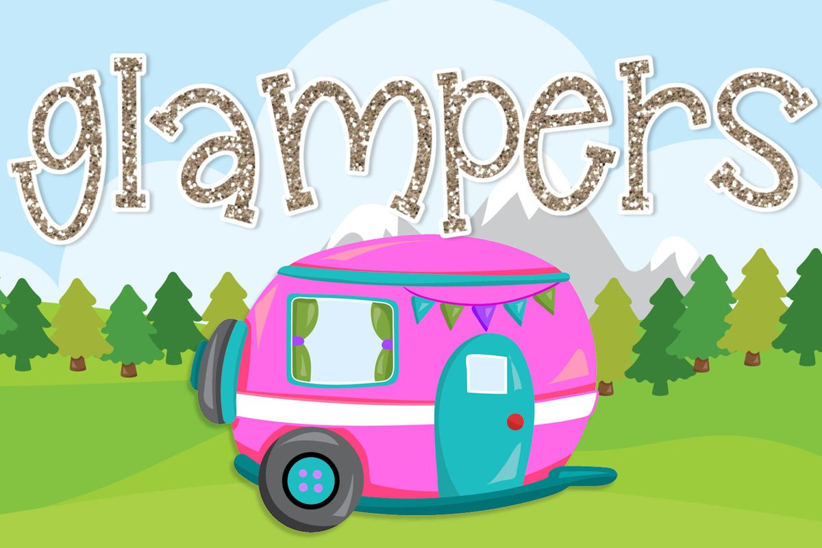 Glampers - A Fun Quirky Mixed Case Font example image 1