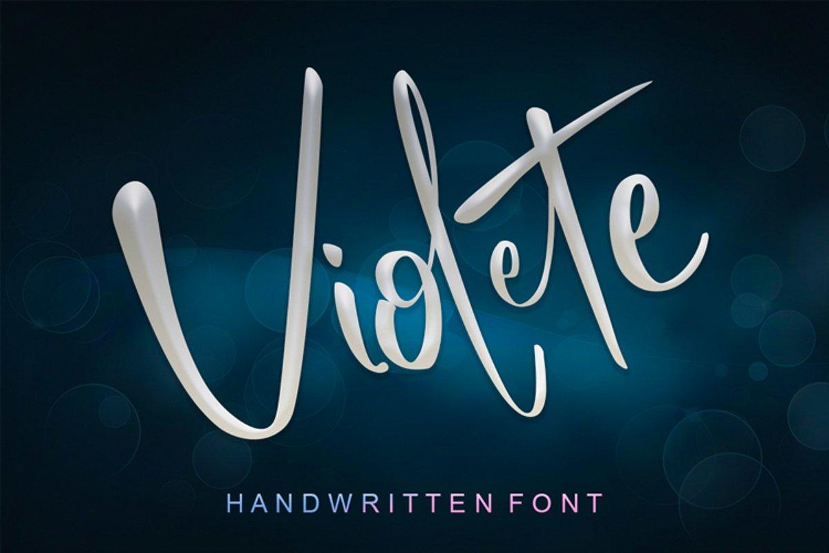 Violete Font example image 1