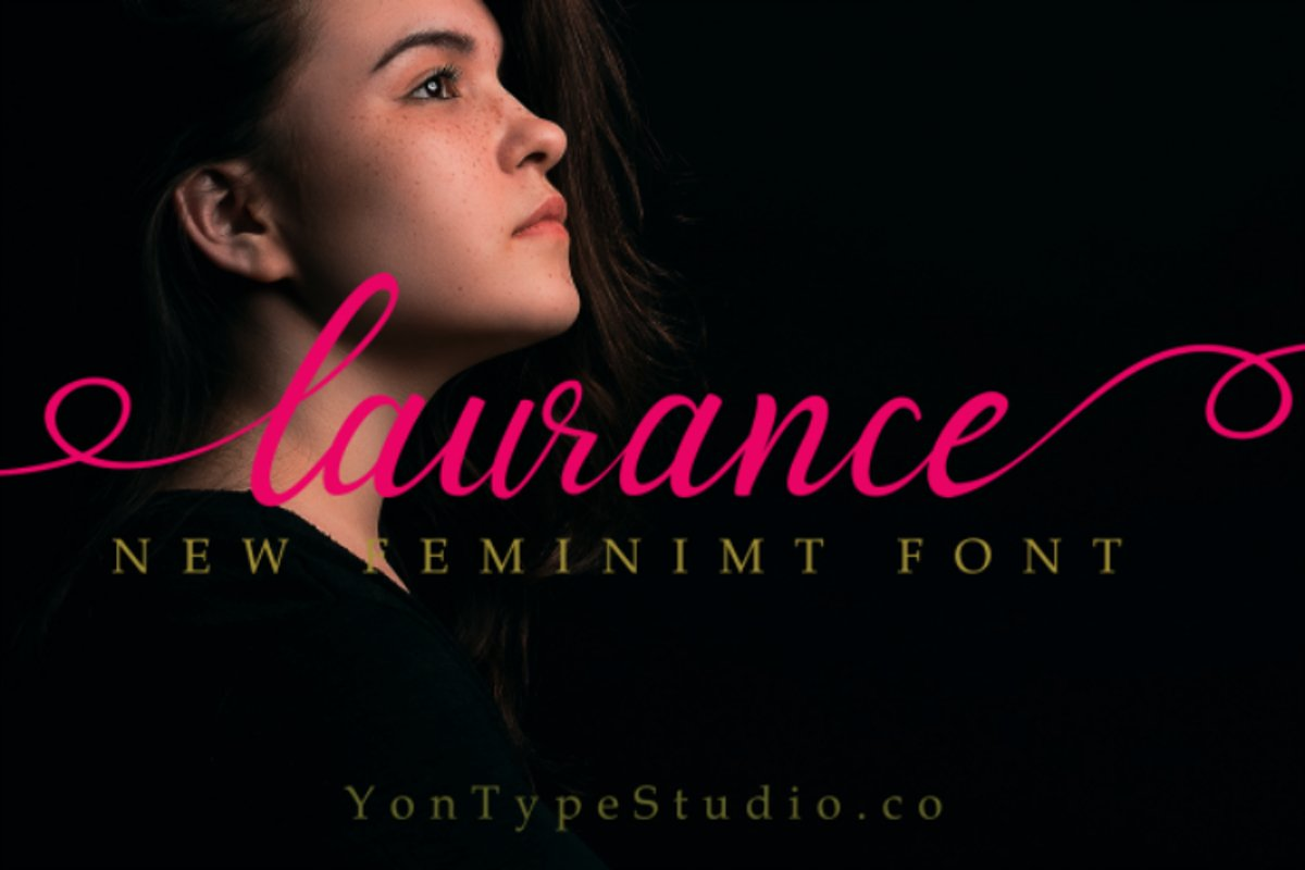 laurance lovely font example image 1