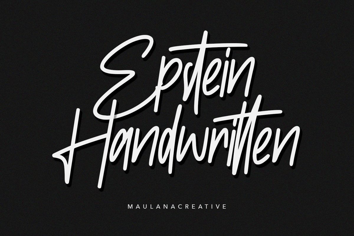 Epstein Signature Handwritten Handmade Font example image 1