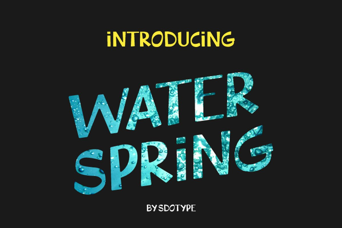 WaterSpring - Display Font example image 1