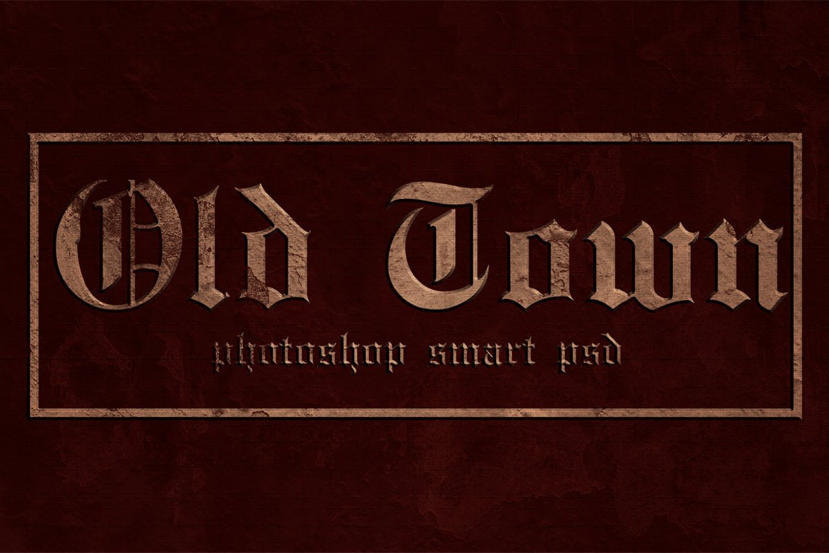 Old Town - Photoshop Text Template example image 1