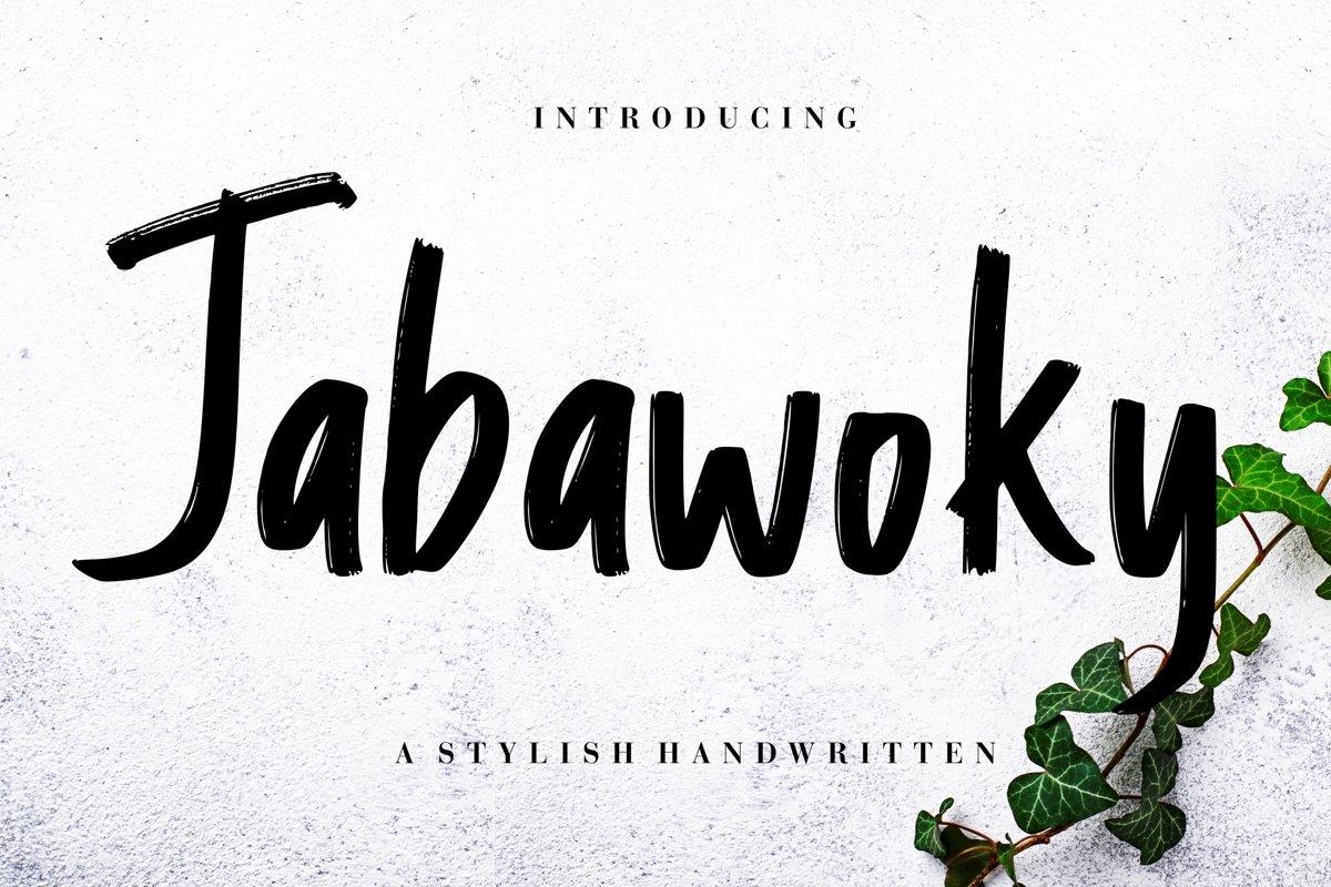 Jabawoky Stylish Handwritten example image 1