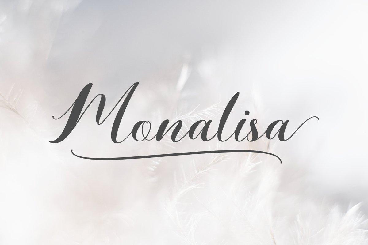 Monalisa // Script Calligraphy example image 1