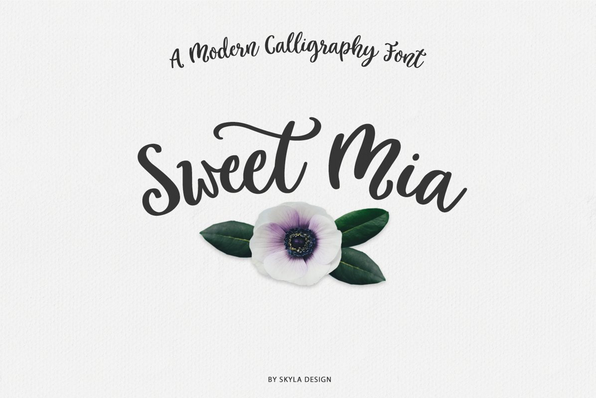 Modern calligraphy font, Sweet Mia example image 1