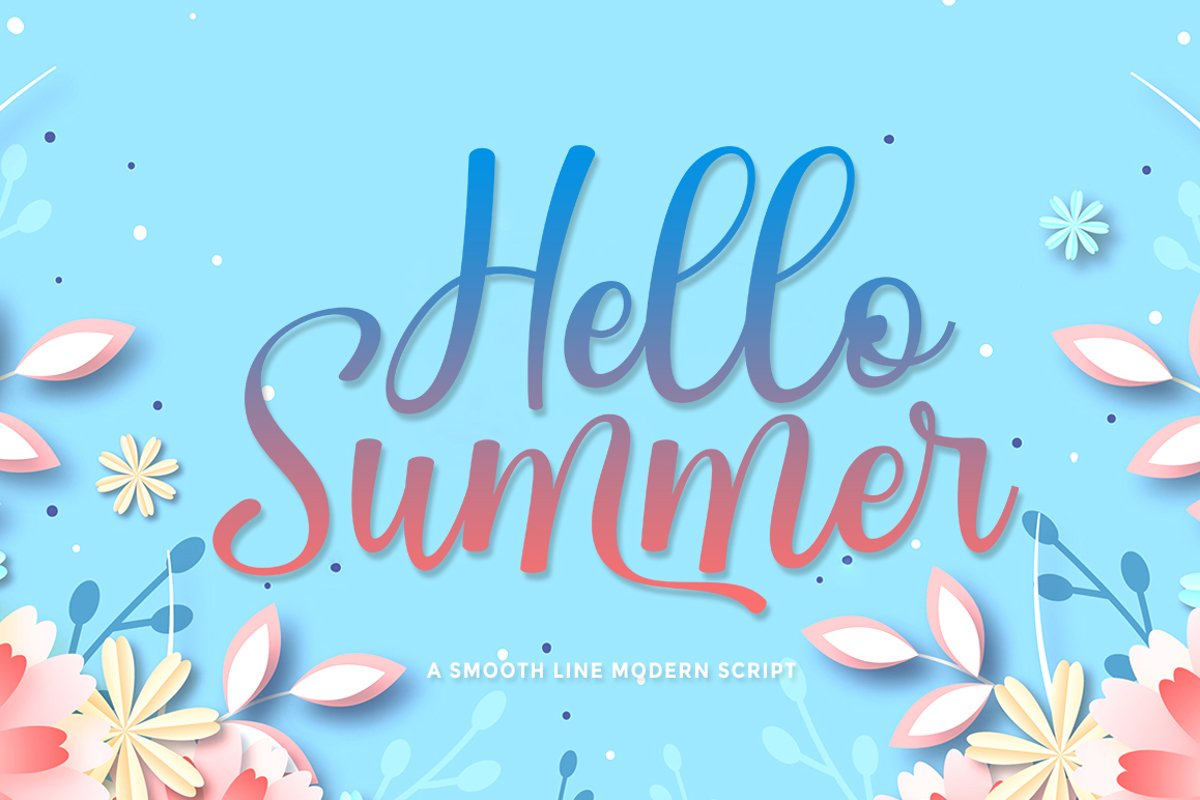 Hello Summer|Beauty font example image 1