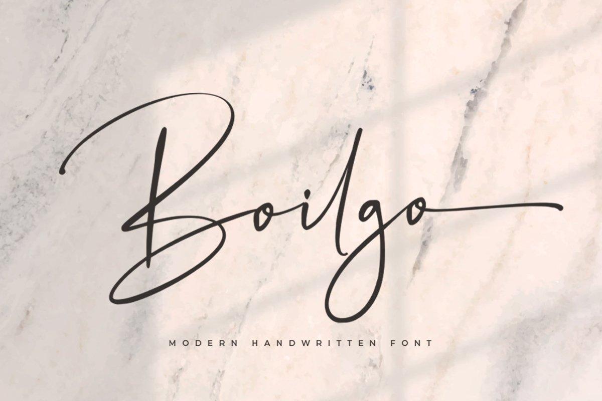 Boilgo - Luxury Signature Font example image 1
