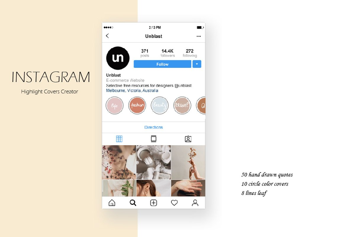 Instagram Highlight Covers Creator example image 1