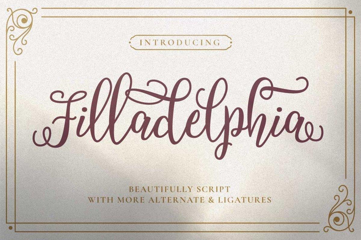 Filladelphia - Beauty Elegant Script example image 1