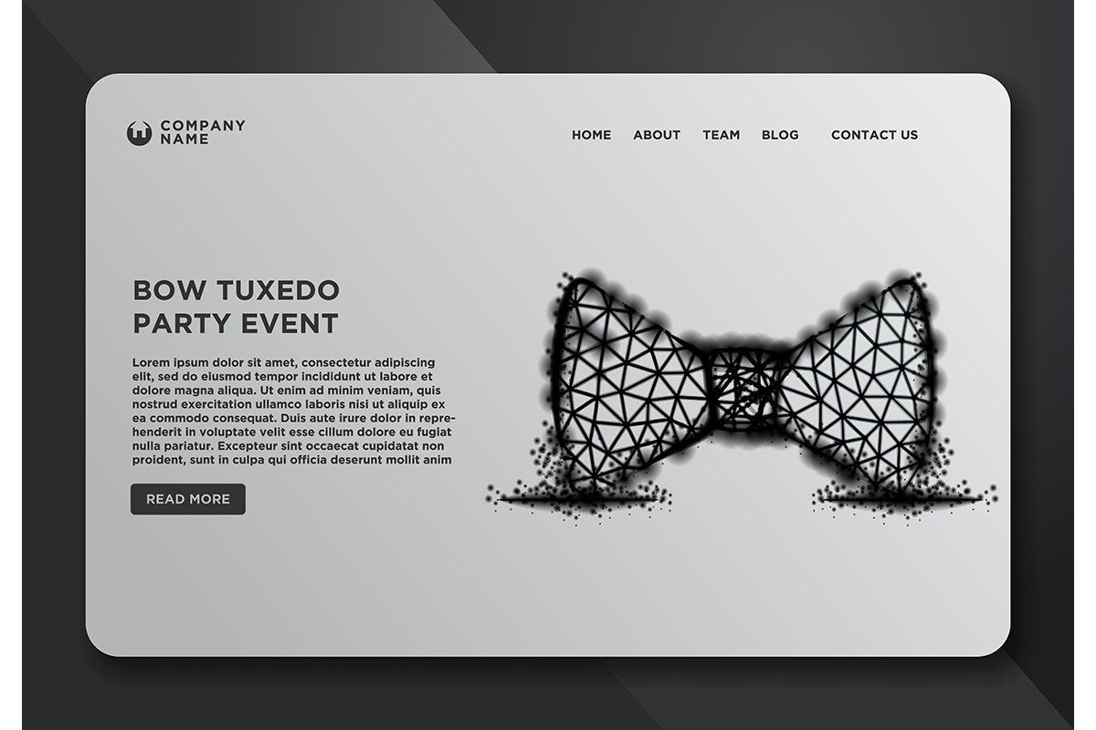 Web page design templates collection of Bow, Tie, Tuxedo, Pa example image 1