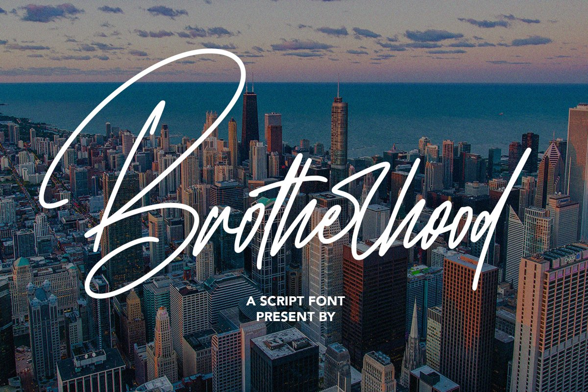 Brotherhood - Script Font example image 1