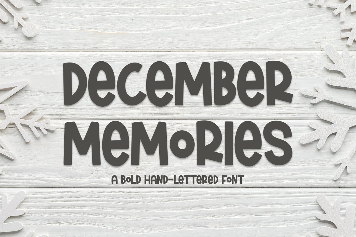 December Memories - A Bold Hand-Lettered Font example image 1