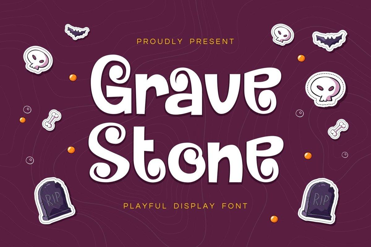 Gravestone - Playful Display Font example image 1