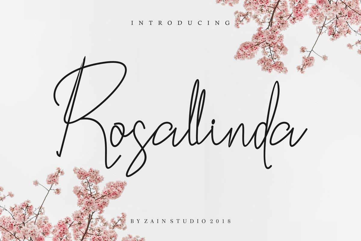 Rosallinda Script example image 1