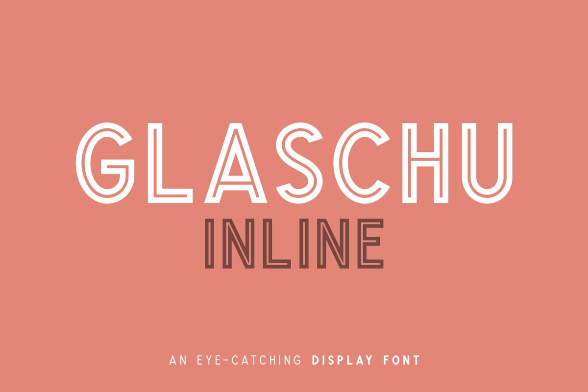 Glaschu Inline Display Font example image 1