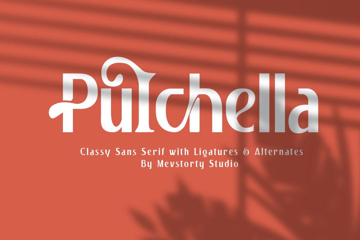 Pulchella Bold Serif Font example image 1