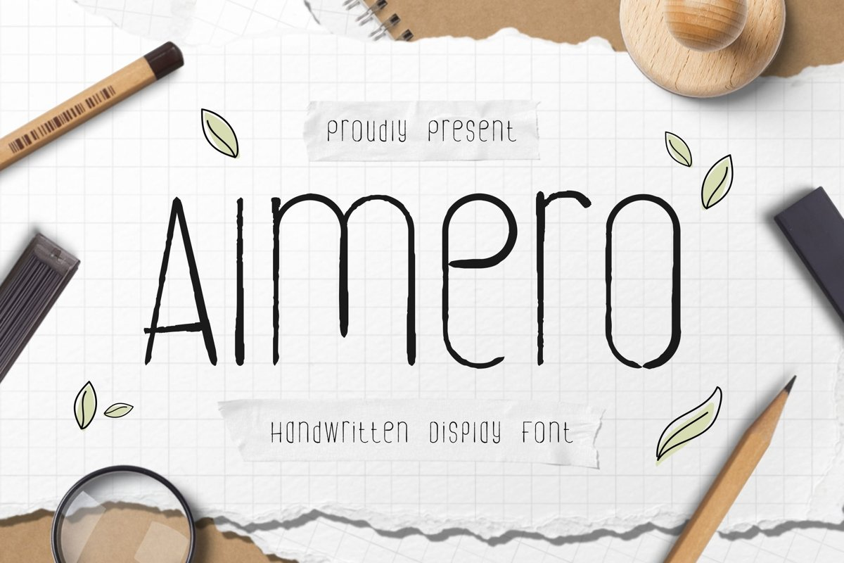 Almero Single Line Font example image 1