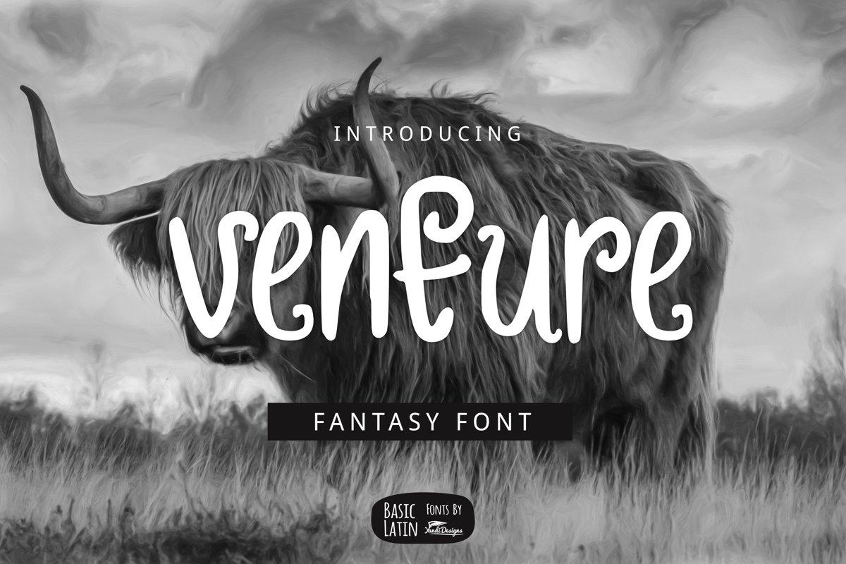 Venture Font example image 1