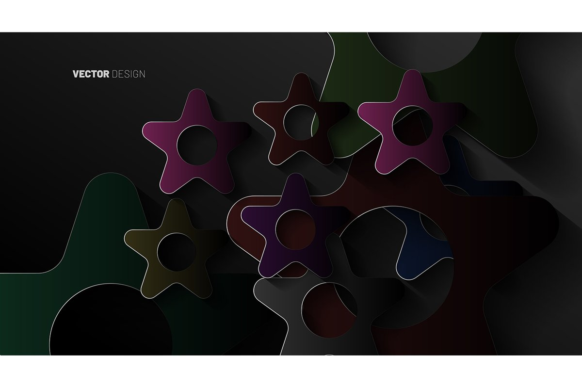 abstract vector background. Geometric star shapes overlap example image 1