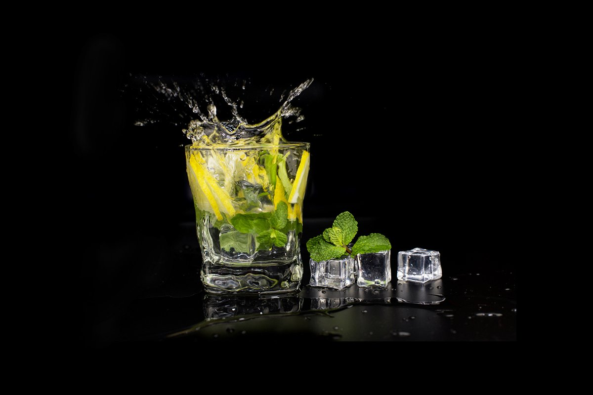mojito cocktail drink with mint and lemon lime example image 1